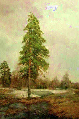 Spring Painting - Nature Landscape Light by Edna Wallen