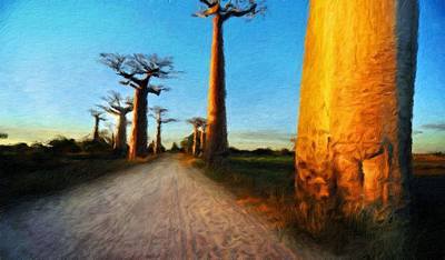 Nature Painting - Nature Oil Paintings Landscapes by Margaret J Rocha