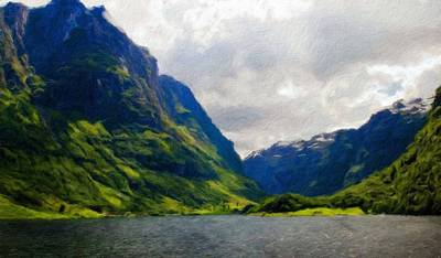 Oil Painting - Oil Painting Landscape Pictures Nature by Margaret J Rocha