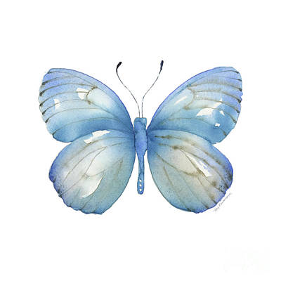 Painting - 112 Blue Marcia Butterfly by Amy Kirkpatrick