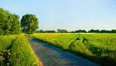 Twilight Painting - Nature Landscape Art by Margaret J Rocha