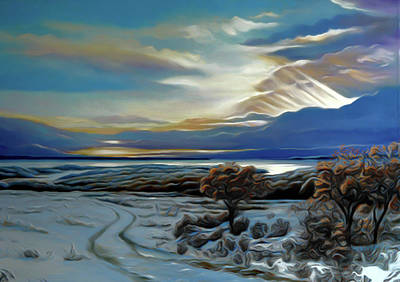 Winter Painting - Nature Landscapes Prints by Edna Wallen