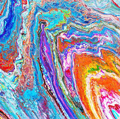Painting - #112 Pour 20x20x2  Favorite by Expressionistart studio Priscilla Batzell