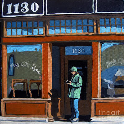 Furniture Store Painting - 1130 High St. by Linda Apple