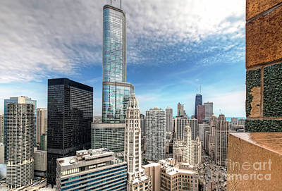 Photograph - 1137 Roof Top View Of Chicago by Steve Sturgill