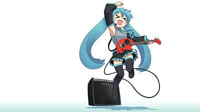 Artwork Digital Art - Vocaloid by Super Lovely