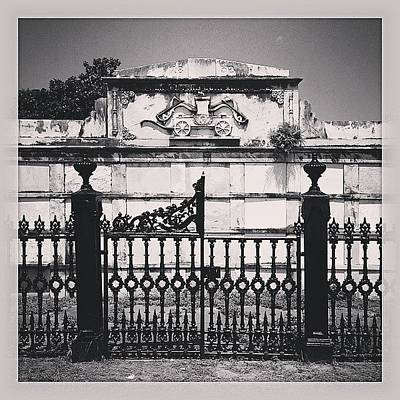 New Orleans Wall Art - Photograph - Cemetery Gate With Tree by Jeffrey Domke