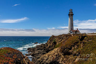 Photograph - 115-foot Pigeon Point Lighthouse by DJ Laughlin