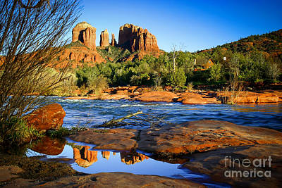Cathedral Rock Photograph - 1157 Sedona Reflection by Steve Sturgill