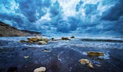 Sunrise Painting - Nature Art Landscape Canvas Art Paintings Oil by Margaret J Rocha