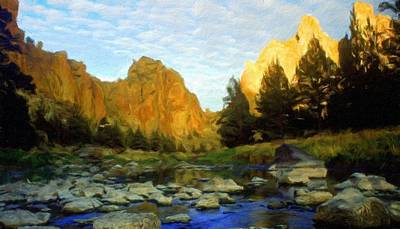 For Sale Painting - Nature New Landscape by Margaret J Rocha