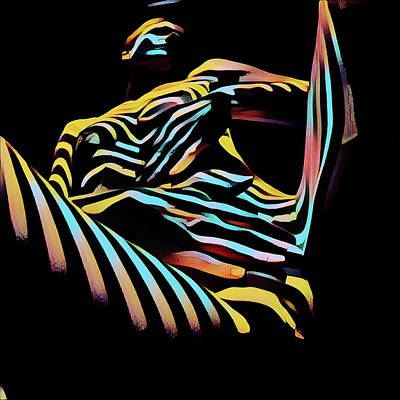 Digital Art - 1177s-ak Abstract Nude Her Fingers On Pubis Erotica Composition Style  by Chris Maher