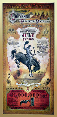 119th Cheyenne Frontier Days Signage Art Print by Thomas Woolworth