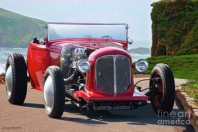 Thomas Kinkade Royalty Free Images - 1930 Ford Model A Roadster Royalty-Free Image by Dave Koontz