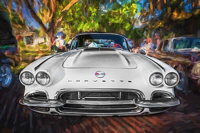 Photograph - 1962 Chevrolet Corvette Convertible Painted by Rich Franco