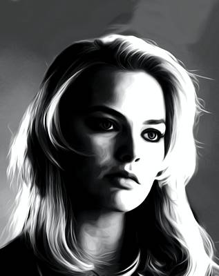 Grace Kelly Digital Art - Actress Margot Robbie by Best Actors