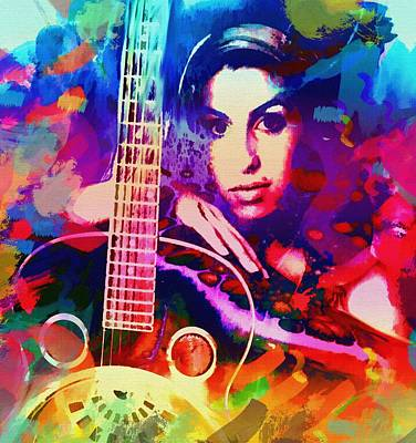 Amy Winehouse Art Print