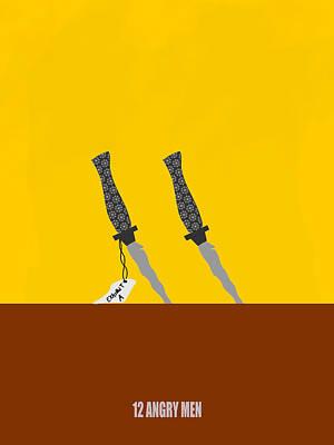 Digital Art - 12 Angry Men Movie Poster by Keshava Shukla