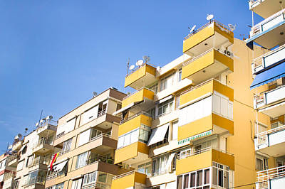Upscale Photograph - Antalya Buildings by Tom Gowanlock