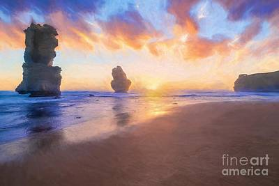12 Apostles With Marshmallow Skies    Og Art Print