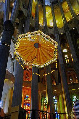 Rose - Artistic Achitecture Within The Sagrada Familia In Barcelona by Rick Rosenshein