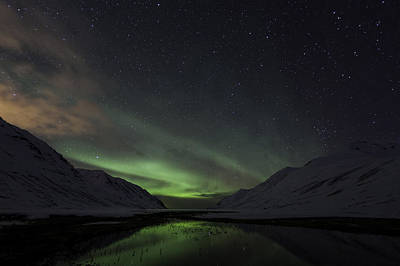 Art Print featuring the photograph Aurora Borealis by Frodi Brinks
