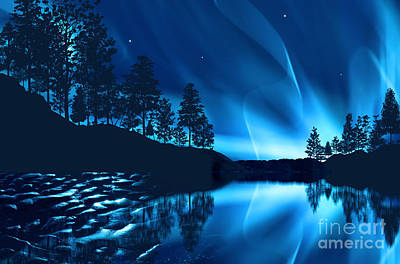 Surrealism Royalty-Free and Rights-Managed Images - Aurora Borealis by Setsiri Silapasuwanchai