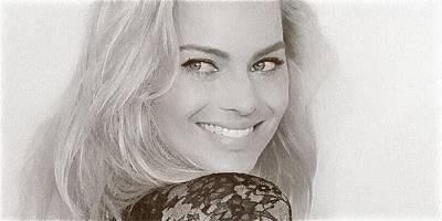 Doppelganger Digital Art - Beautiful Actress Margot Robbie by Best Actors