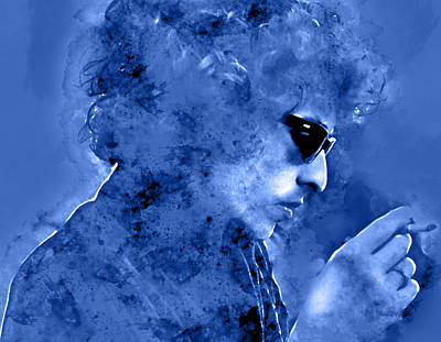 Mixed Media - Bob Dylan by Marvin Blaine