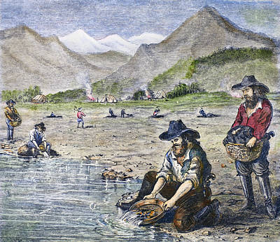 California Gold Rush Art Print by Granger