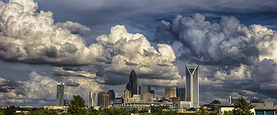 Charlotte North Carolina City Skyline Art Print