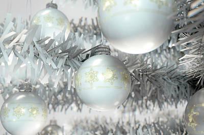 Christmas Baubels In A Tree Art Print