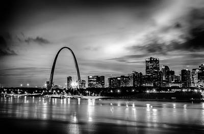 Photograph - City Of St. Louis Skyline. Image Of St. Louis Downtown With Gate by Alex Grichenko