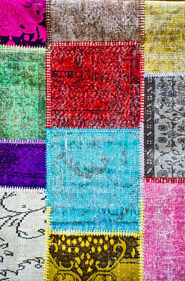Tapestries Textiles Photograph - Colorful Textile by Tom Gowanlock