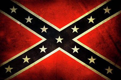 Star Wars Photograph - Confederate Flag by Les Cunliffe