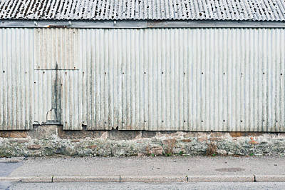 Agricultural Industry Wall Art - Photograph - Corrugated Metal by Tom Gowanlock