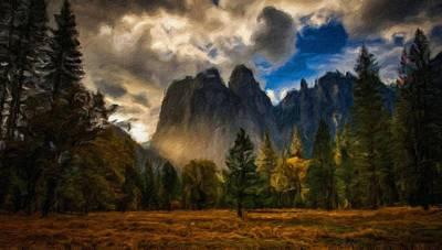Autumn Digital Art - Country Landscapes by Victoria Landscapes