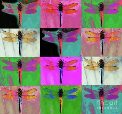 Photograph - 12 Dragonflies by Expressionistart studio Priscilla Batzell
