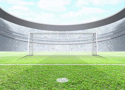 Floodlit Stadium Day Art Print