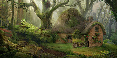 Summer Digital Art - Forest by Super Lovely