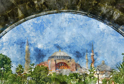 Photograph - Hagia Sophia In Istanbul Turkey by Brandon Bourdages