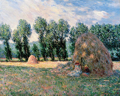 Wheat Painting - Haystacks by Claude Monet