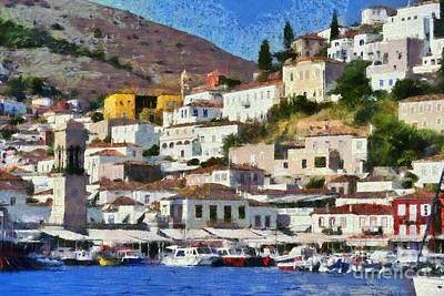 Beaches And Waves Rights Managed Images - Hydra island Royalty-Free Image by George Atsametakis