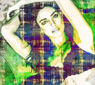 Mixed Media - Irina Shayk by Svelby Art