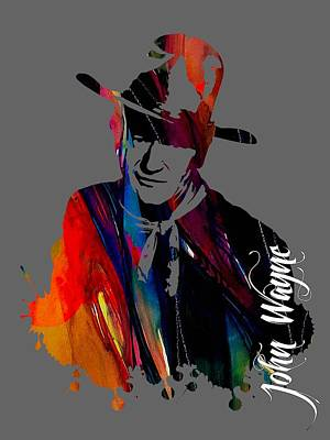 Duke Mixed Media - John Wayne Collection by Marvin Blaine