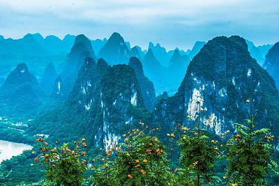 Karst Mountains Landscape Art Print