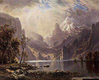 Painting - Lake Tahoe by Albert Bierstadt