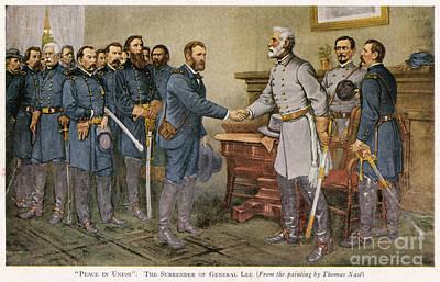 Lees Surrender 1865 Art Print by Granger