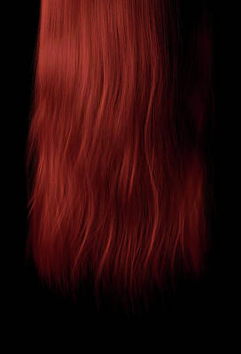 Hairstyle Digital Art - Length Of Hair by Allan Swart