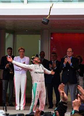 Sauber Photograph - Lewis Hamilton by Srdjan Petrovic